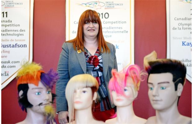Siobhan Loos, Richards' Creative and Advanced Design educator and WorldSkills hairdressing judge.